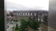 Das Stadion von Real Madrid direkt gegenüber