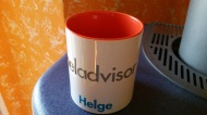Ein Geschenk von meinen Kollegen. Man achte auf die Farbe ...