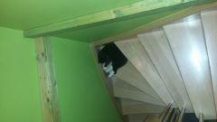 Die Eckstufe der Treppe war auch ein Lieblingsplatz