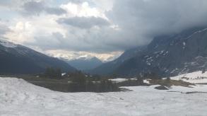 Oben Große Scheidegg. Der Blick zurück