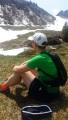Wenn man sitzt, ist die Hitze erträglich :-)