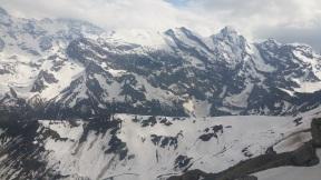 Der Grat, den wir im Sommer immer wandern, ist noch vom Schnee bedeckt