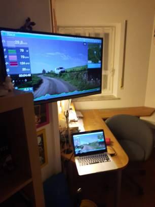Wahlweise auf Laptop oder großem Monitor